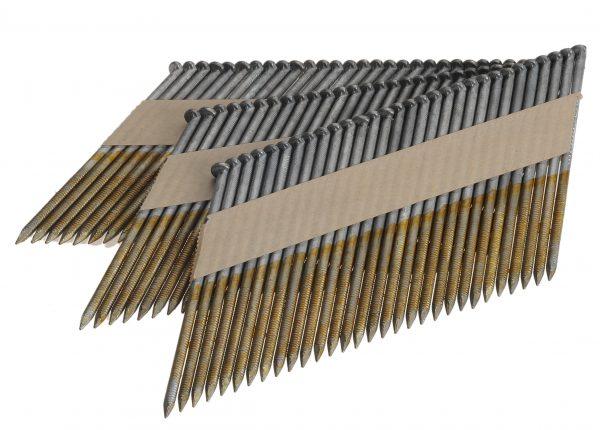 Stripnagels 3.1x90mm Glad Gegalvaniseerd 34° D-kop Doos 2000 stuks