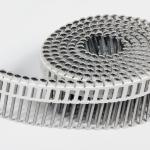 Rolnagels RVS 2.1x50mm (1200st) plastic gebonden bolkop vlakke rol