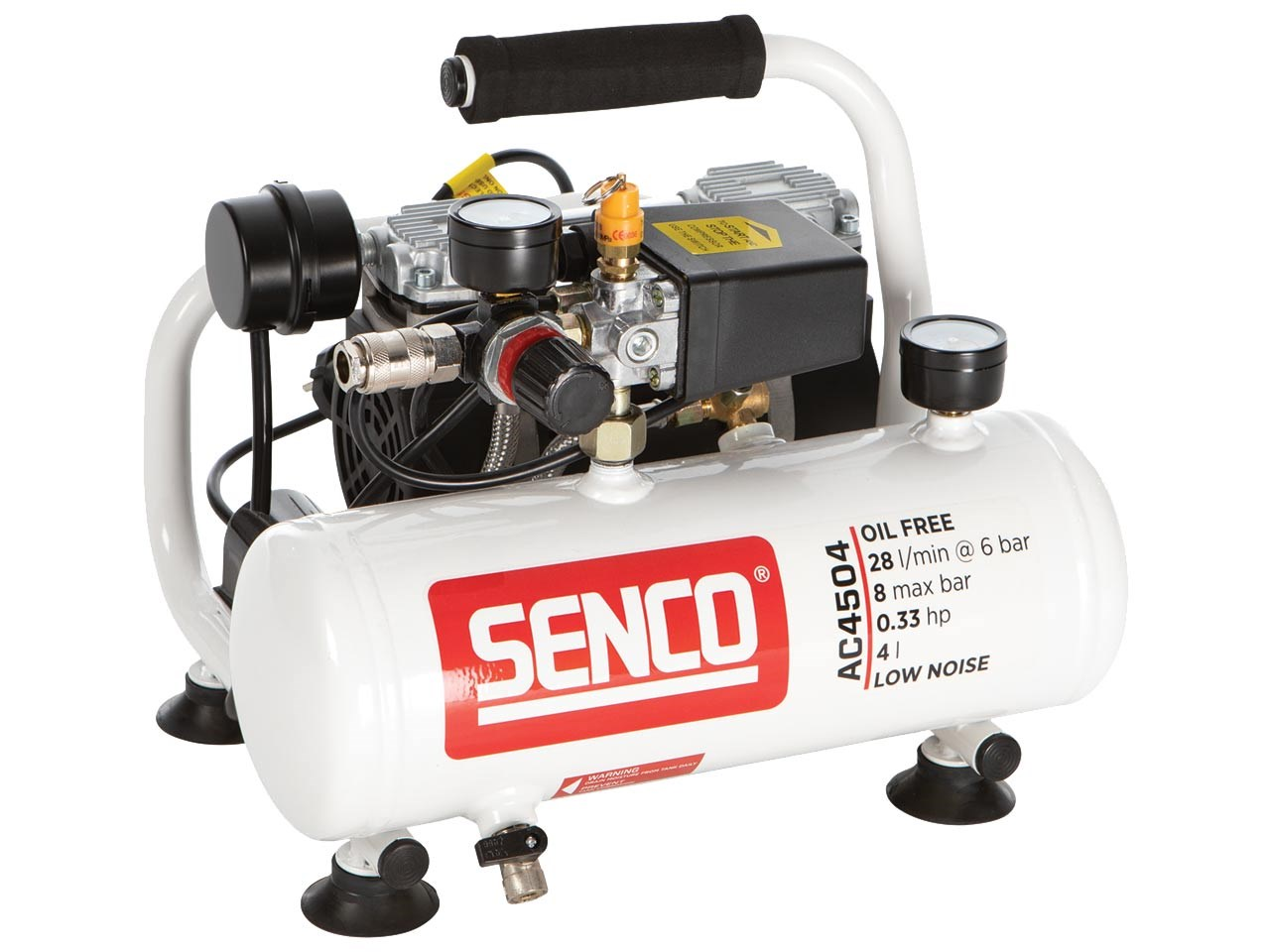 Senco TP4504 8BAR stille compressor