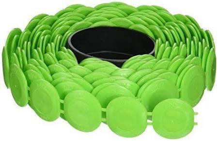 Lichte nieten en plastic Caps