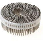 Rolnagels RVS 2.1x50 mm 0° plastic gebonden bolkop