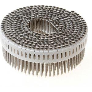 Rolnagels RVS 2.5x65 mm 0° plastic gebonden bolkop