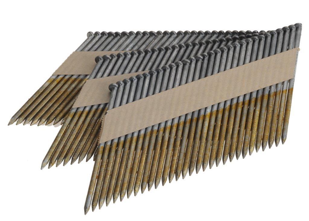 Stripnagels 3.1x80mm Ring gegalvaniseerd 34° D-kop Doos 3000 stuks