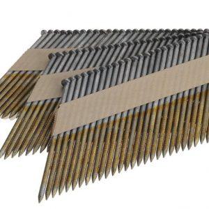 Stripnagels 3.1x80mm Ring gegalvaniseerd 34° D-kop Doos 2000 stuks