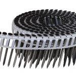 Coilnagel zwarte kop plastic band rol logo